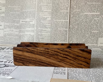 Made To Order: Wooden Pen Stand, Pen Holder, Fountain Pen Tray (Zebrano Wood)