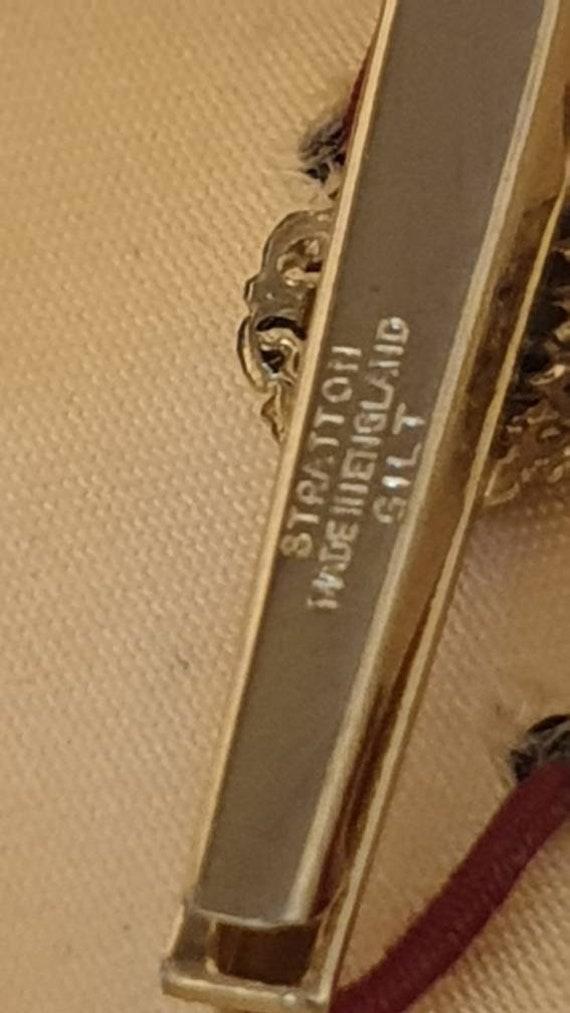 vintrage retro stratton car automobile tie clip pin kitsch retro original box gift piece summer wardrobe