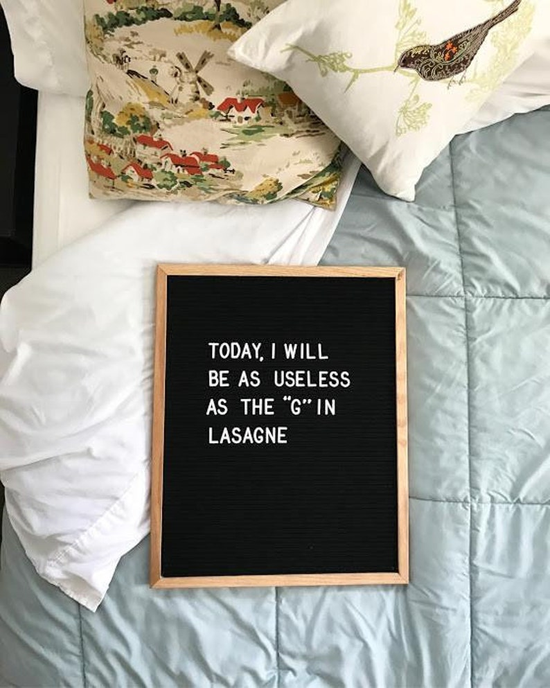 16x20 Large Black Felt Letter Board with Solid Oak Frame Very thoughtful Mother/'s Day gift Gorgeous Construction Letters INCLUDED