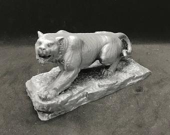 3D Printed Tiger Statue / Tiger Statuette / Tiger Figurine