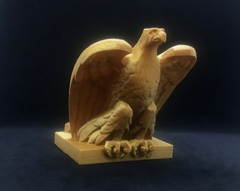 Art Deco Eagle Statue / 3D Printed Eagle Statuette / Eagle Figurine /  Eagle Sculpture / American Eagle Statue / Bald Eagle Figurine / Birds