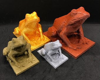 Frog Statue / 3D Printed Frog / Frog Sculpture / Frog Statuette / Frog Figurine