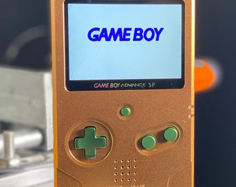Gameboy Advance SP UNHINGED - IPS v2 Funnyplaying Mod-Fully restored-Custom aluminum Shell&Buttons