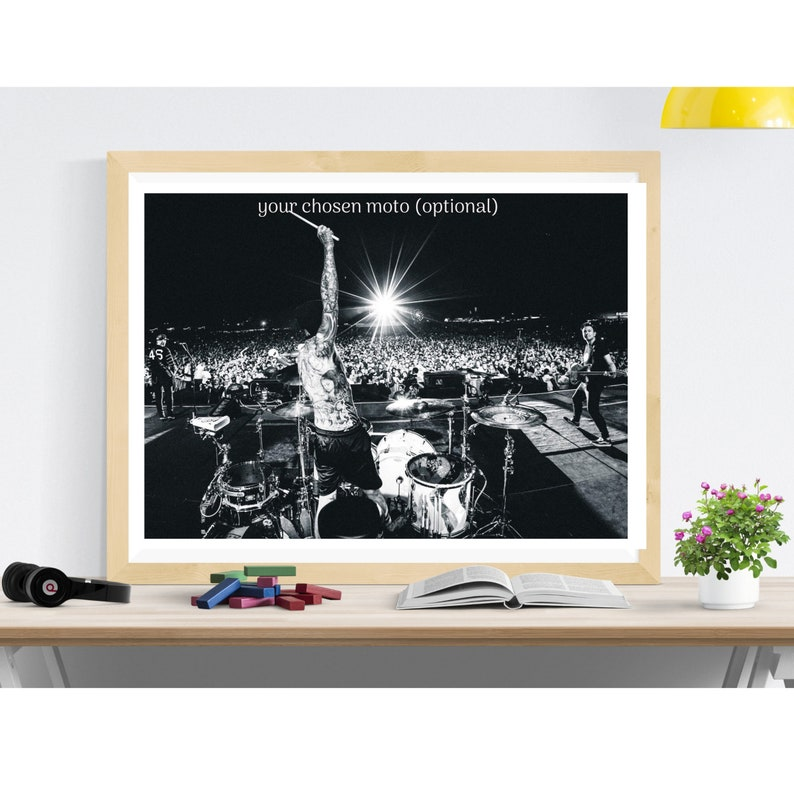wall decor vintage print Blink 182 performing live photo art print,housewarming gift for himher,photo print,vintage poster music poster