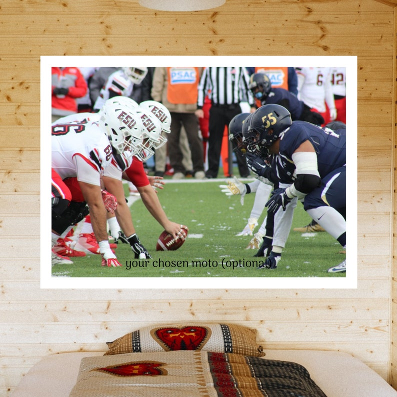 Classic photo footage from American football housewarming gift for himher photo print iconic wall decor vintage poster sports poster