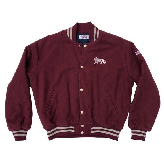 90s LONSDALE Wool Bomber Jacket | LONSDALE 90s Woo