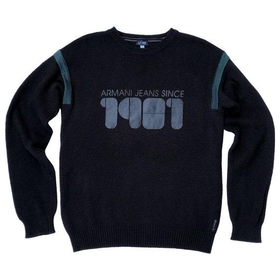 90s Armani Jeans Printed Sweater | Maglione Stampa