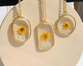 Sunflower Necklace Spring Floral Jewelry S317 Sunflower Charm Necklace Sunflower Pendant Sunflower Jewelry Gift For Her