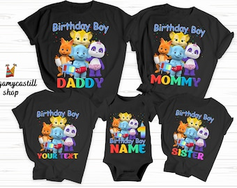Word Party Family Shirts with Tilly Word Party Birthday Word Party t-shirt custom Family Matching Shirts Family Birthday Mom Dad Fabulosovoc
