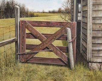 Giclee Fine Art Print of Original Acrylic Painting Food Chain by Michael Berardesco