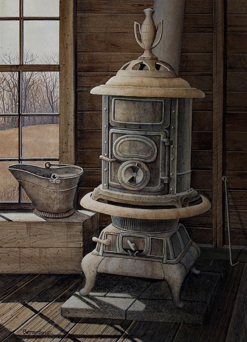 Giclee Fine Art Print of Original Acrylic Painting Pot image 0