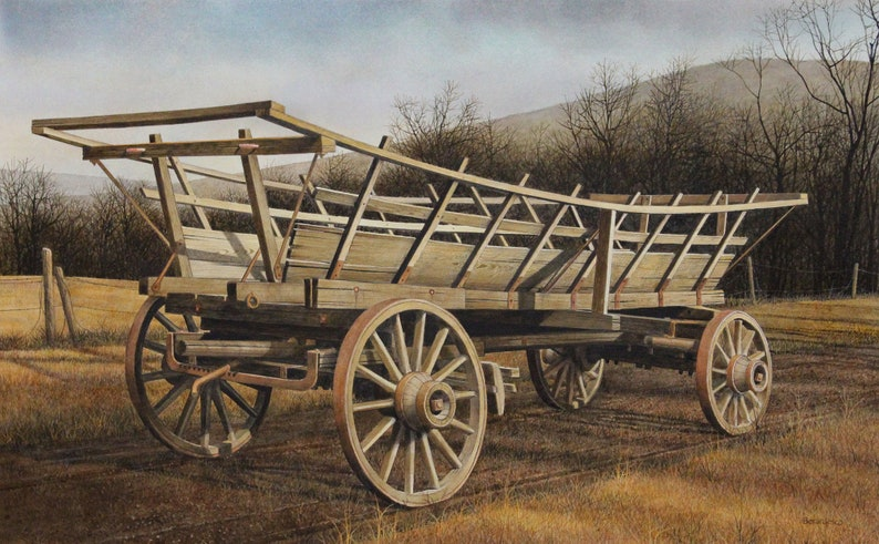 Giclee Fine Art Print of Original Acrylic Painting Hay image 0