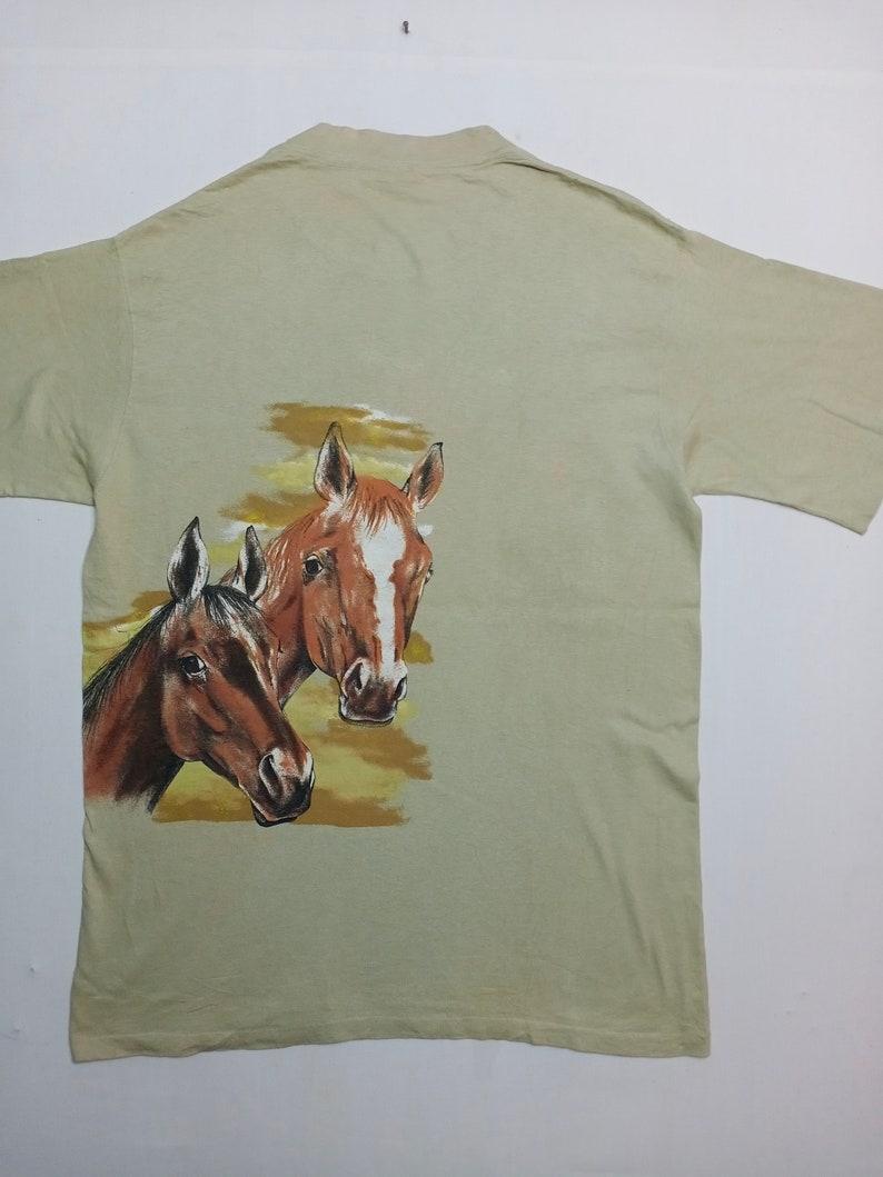 Vintage Horses Cowboy Overprint Habitat T-shirt