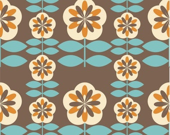 6   40's 50's 60's Retro Colorful Flowers Fabric by The Yard   Vintage Decor   Polyester   Furniture Upholstery Fabric   Drapery 55'' wide