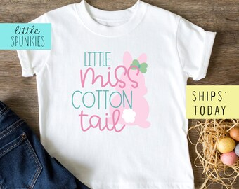 The Perfect Cute Shirt For This Easter Little Miss Cotton Tail Easter Top For Girls