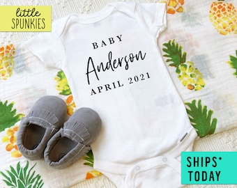 Gift for New Baby Bodysuit Baby Onesie\u00ae Shower Gift Made in WYOMING Onesie\u00ae Baby Reveal Announcement Newborn Outfit Baby Gift