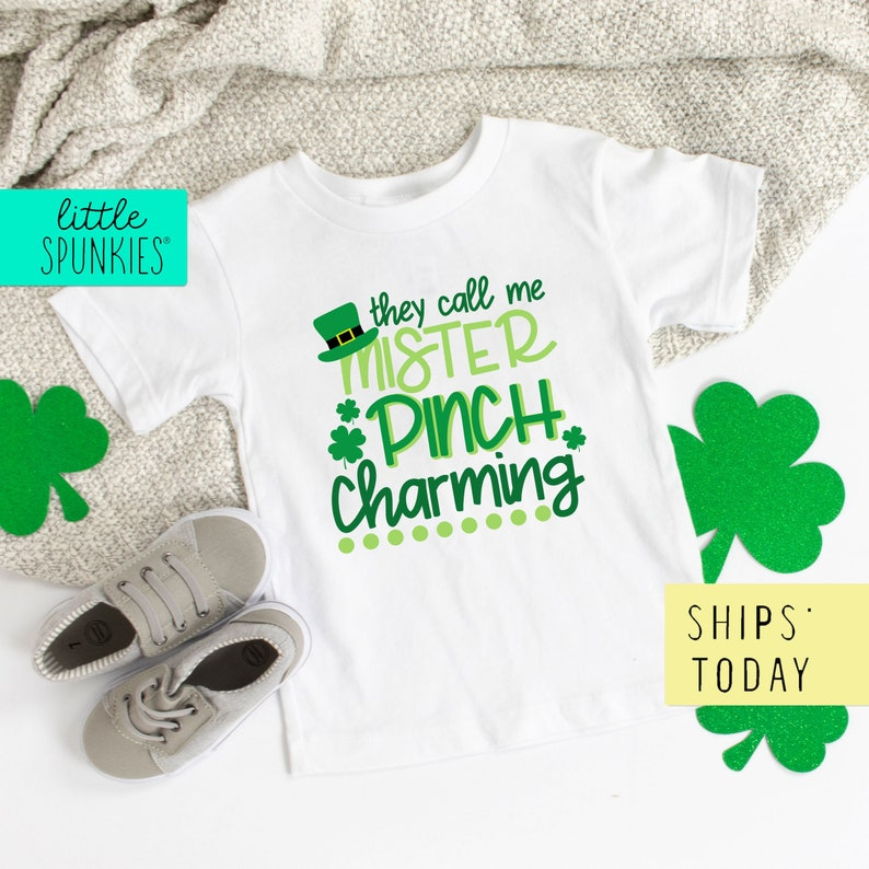 Toddler Graphic Tee They Call Me Mister Pinch Charming Shirt Boys St Patricks Day Tshirt