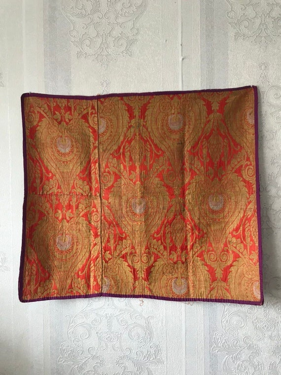 Vintage Russian Material, Vintage Fabric, Jacquard