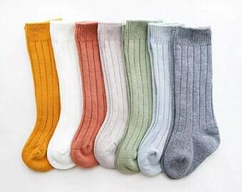 Newborn to 5 year old socks/baby boy socks/baby girl socks/knee high socks baby/winter baby socks/baby leg warmer/toddler socks/kids socks
