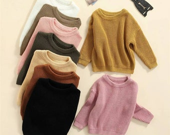Unisex baby Oversized sweater toddler kids winter sweater fall sweater baby knitted sweater girl boy sweater