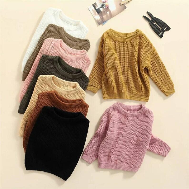 Unisex baby Oversized sweater toddler kids winter sweater fall image 1