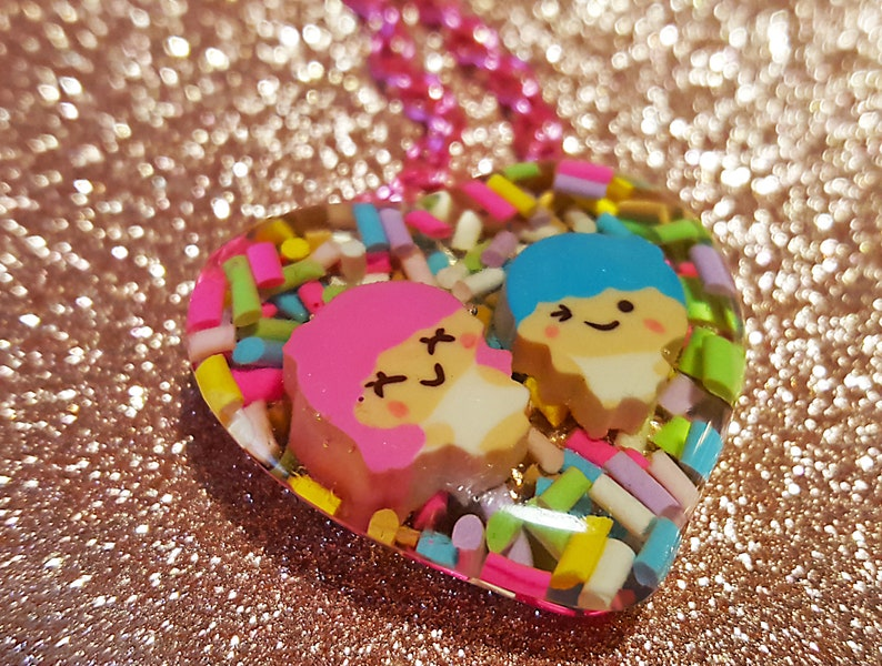 Love Necklace  Harajuku Fairy Kei Style  Cute Heart Shaped image 0