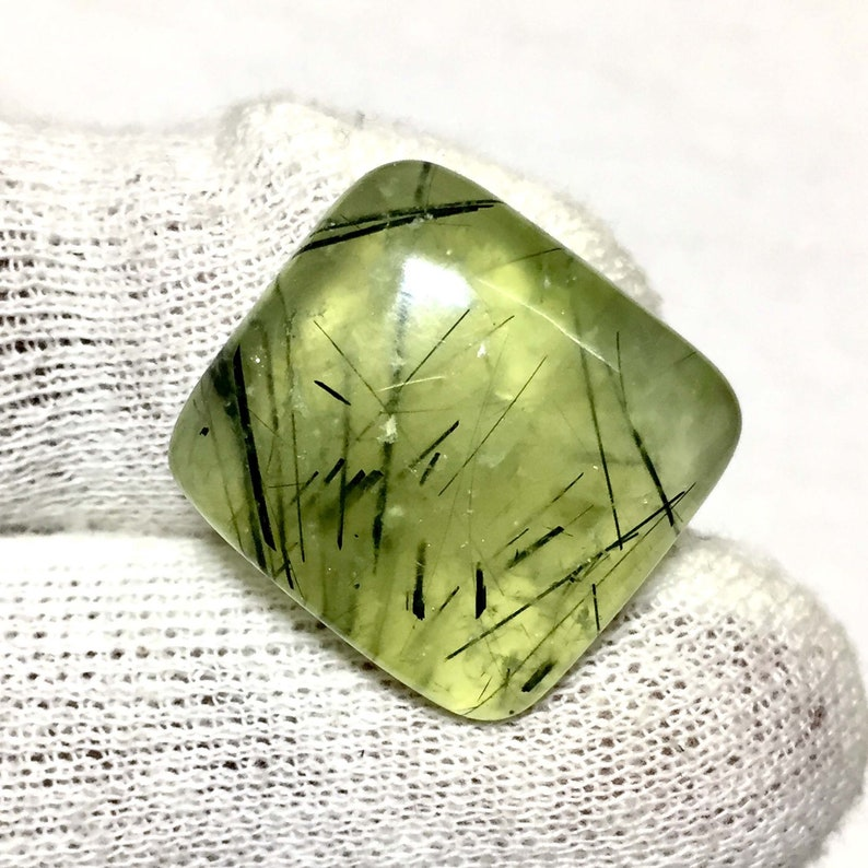 Natural Prehnite Cabochon Prehnite 29.70 Cts Making Jewellery Gemstone... Semi Precious Gemstone