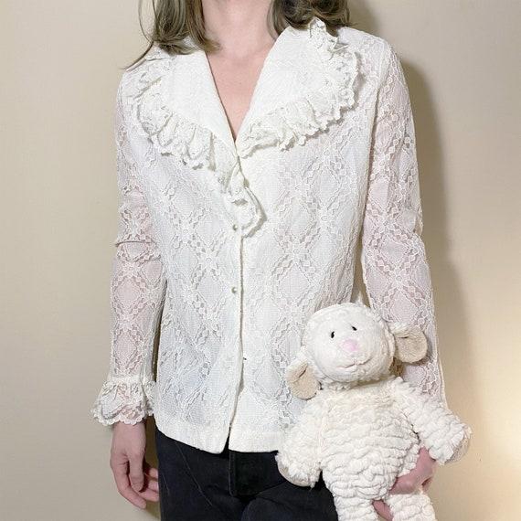 Vintage White Lace Shirt