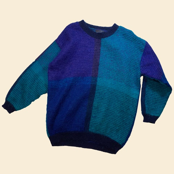 Vintage Paul Harris Blue Green Mohair Sweater