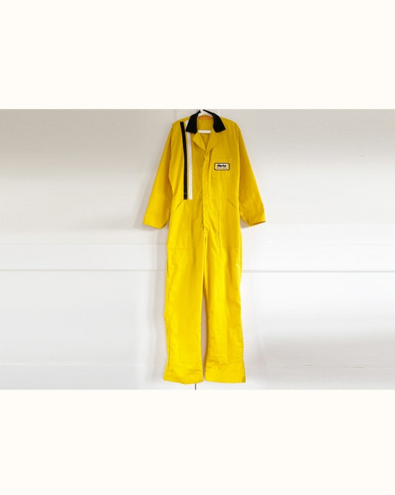 Vintage 60s Hertz Yellow Workwear Coverall