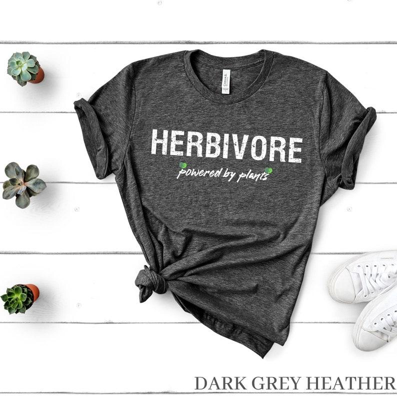 Vegan Gift Powered By Plants TShirt Plant Based Tshirt Gift For Vegans Vegan Tshirt Vegan Clothing Vegan Vibes Herbivore Tshirt