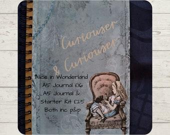 Alice in Wonderland A5 Hardback Lined Journal