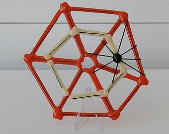 Halloween Fused Glass Spider Web - Orange & Vanilla