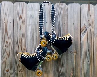 """1 1/2"""" Black Tassel Fringe   Skate Leash (Adjustable)   Yoga Mat Strap   Carrying Belt   Other Color Options Available"""