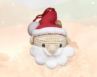 Red Santa Claud crochet ornament for Xmas tree decor, baby gift, stocking stuffer