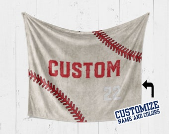 Stadium Blanket Custom Colors Photo Baseball Throw Personalized Photo Baseball Blanket