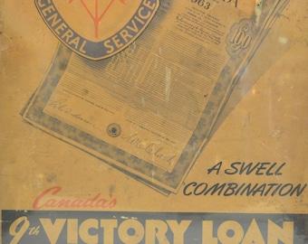 WW2 Canadian War Bonds (Victory Loans) Poster
