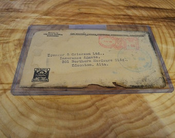 Crash Cover Envelope Mail Recovered from Trans-Canada Airlines Plane Crash in Moose Jaw Saskatchewan April 1954