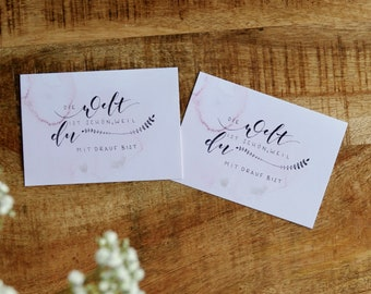"""Card set """"The world is beautiful because you're on it"""" (set of 8)"""