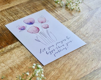 """Postcards """"Let your prayers be bigger than your problems"""" (set of 8)"""