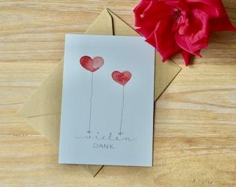 "Card set with envelopes, ""Thank you"" (5 set)"