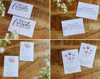 Card set with biblical sayings (set of 8)