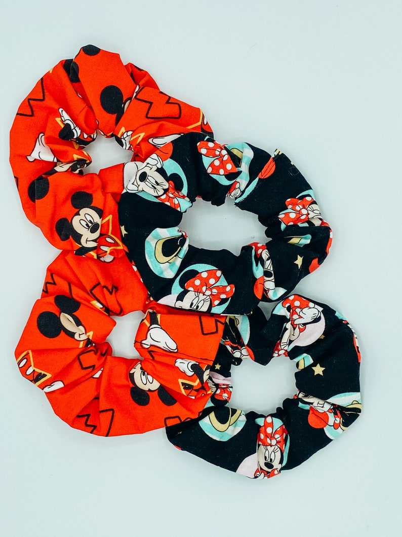 Mickey Minnie Princess Large and Medium Scrunchies Hair Accessories Disney Scrunchie Women\u2019s Scrunchie Mouse Scrunchie