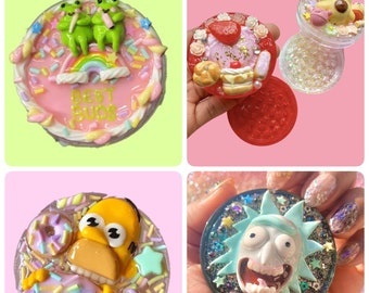 Other grinder colour options available too Available for pre-order Kawaii 50mm Pink Metal Ramen Cake Grinder Decoden inspired 18