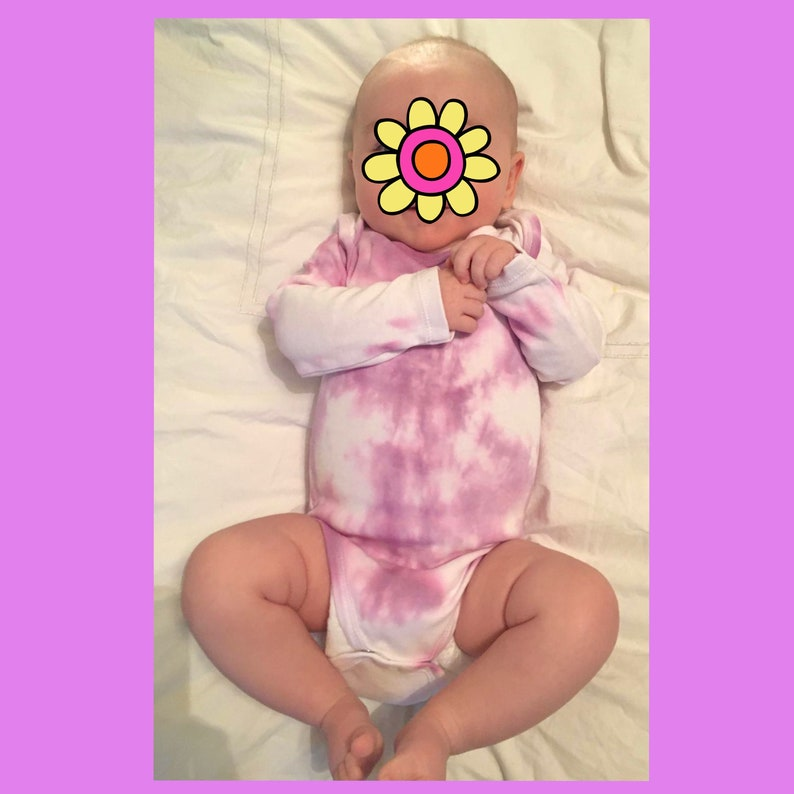 Tie dye baby grow Baby grows Hand dyed baby grow Baby clothing new born clothes unisex baby clothes