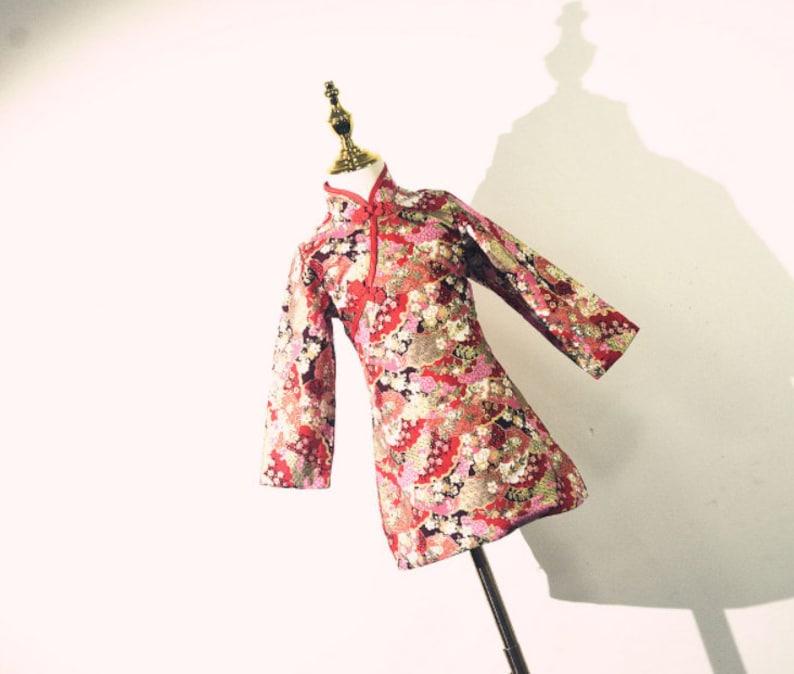 For Girls Kids Cheongsam Flower Girls Dress Chinese Vintage Qipao Dress Chinese Style Dress Princess Dress Handmade Girls Cheongsam