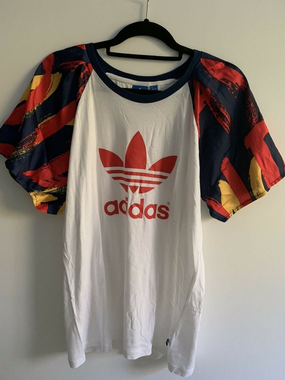 Womens Adidas Originals T-shirt White Size 12