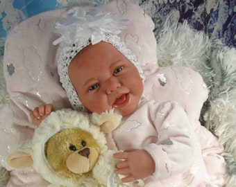 """Reborn baby doll,""""Chrissi"""",puppet doll,collectible doll,baby doll"""