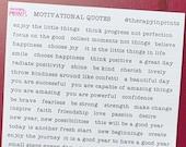 90 Motivational Bullet Journal Stickers, Word Scrapbook Stickers, Journal Supplies, Typewriter Letter Quote Sticker Sheet, Phrase Stickers