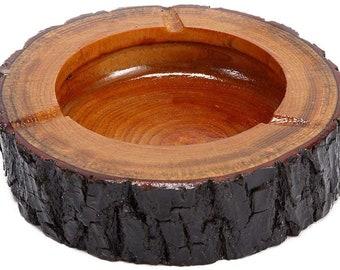 Ashtray African figure Folk art ashtray Vintage wooden ashtray Handmade wooden ashtray Smoking accessories